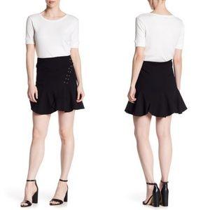 Romeo + Juliet Couture Black Ruffle Miniskirt